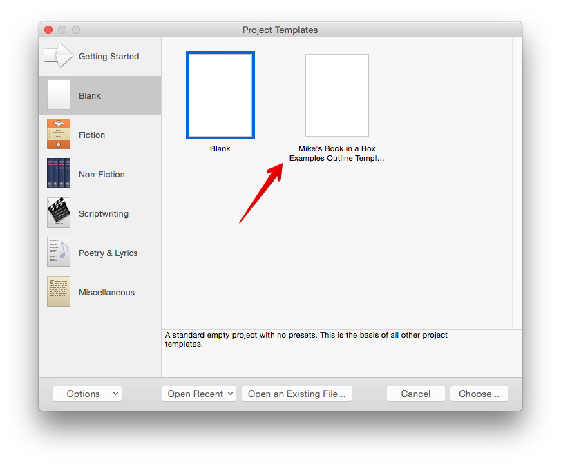 choose-scrivener-template